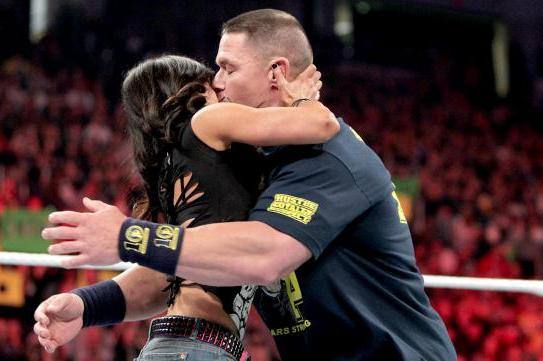 WWE's  Big Kiss: What Does It All Mean for John Cena and AJ Lee?