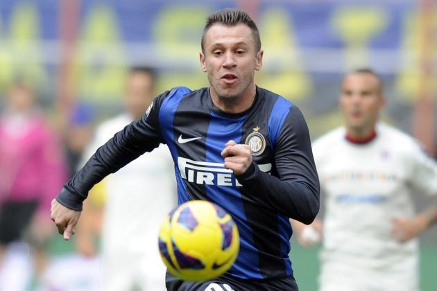 Antonio Cassano, Andrea Stramaccioni Handed Bans by Inter Milan