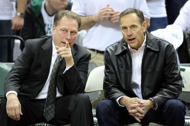 Michigan State's Mark Dantonio Appreciates Support from Therapist Tom Izzo