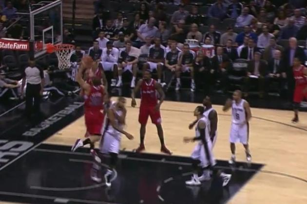 Photo Evidence of Tim Duncan Cowering Away from a Blake Griffin Dunk