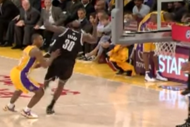 Video: Reggie Evans Can Expect to Write the League a Check