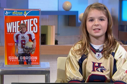 Sensational Sam Gordon Becomes First Female Football Player on Wheaties Box