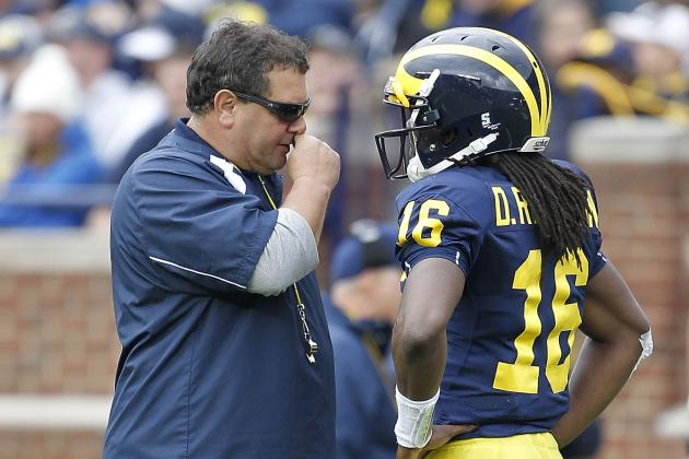 Brady Hoke Mum on QB Starter; LB Desmond Morgan to Return