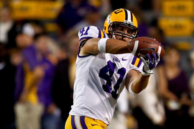 TE Dickson emerges for LSU Tigers