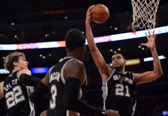 The Spurs' paint barrage continues