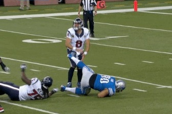 Suh Takes Cheap Shot on Schaub