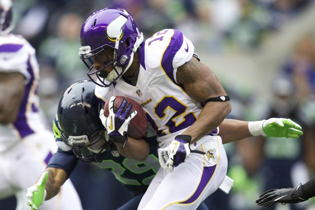 Percy Harvin Makes Short Appearance at Vikings Practice