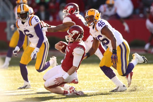 LSU vs. Arkansas: Struggles Against Hogs Prove Tigers Aren't BCS Worthy