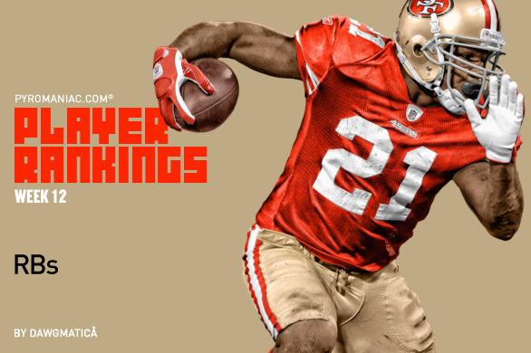 Fantasy Football Week 12: Rankings for the Top 50 Running Backs