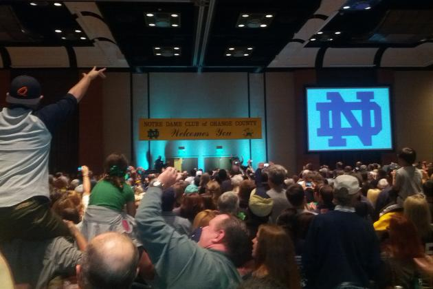 Notre Dame Faithful Gather in Southern California for Pregame Rally
