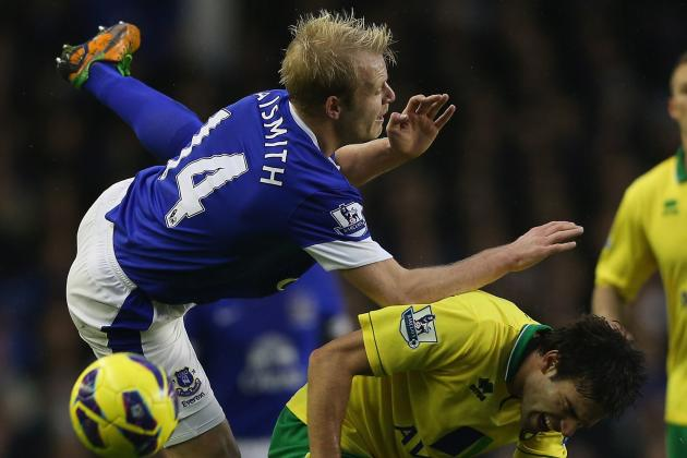 Sébastien Bassong Snatches Late Point for Norwich City at Everton