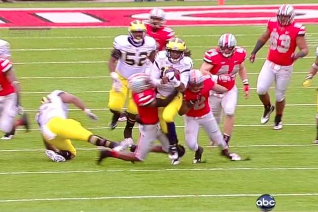 Michigan vs. Ohio State: Denard Robinson Breaks 67-Yard Touchdown Run