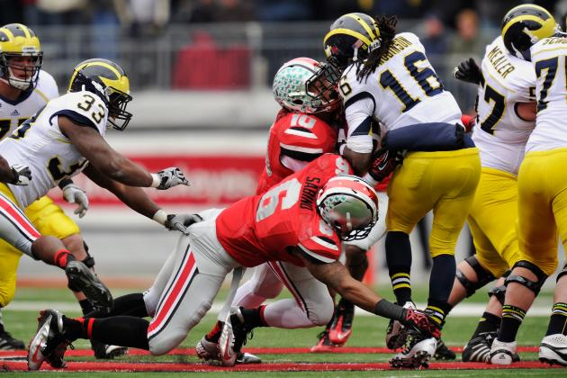 Ohio State vs. Michigan: Denard Robinson Passes Up Former Jet Brad Smith