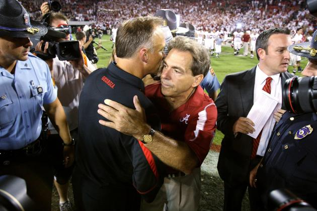 Alabama Football: Just How Much Better Is Nick Saban Than Mark Richt?