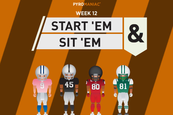 Fantasy Football 2012: Start 'Em, Sit 'Em for Week 12