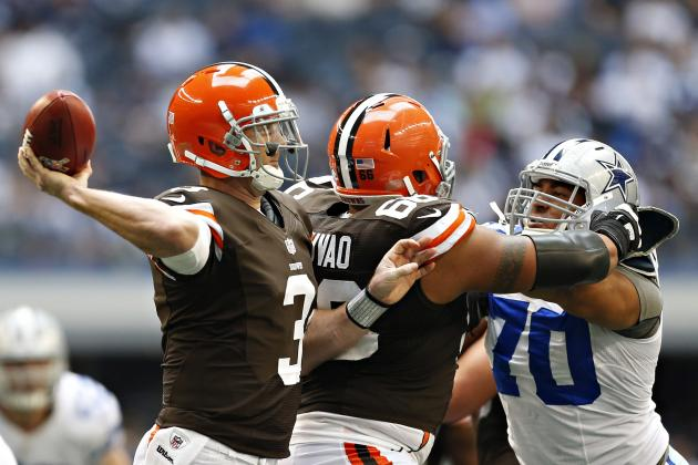 Weeden Disputes Reports He Is Upset with Play Calling