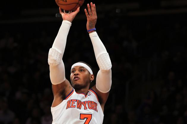 Carmelo Anthony, New York Knicks Get Back to Winning with Three-Point Shooting