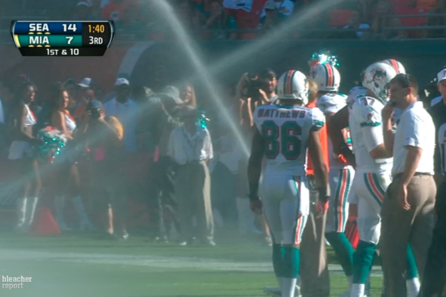 Sprinklers Shockingly Interrupt Seahawks vs. Dolphins