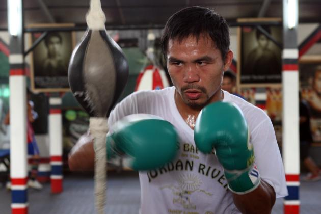 Manny Pacquiao Knocks Down Second Sparring Partner in Training; Now $2K Richer?