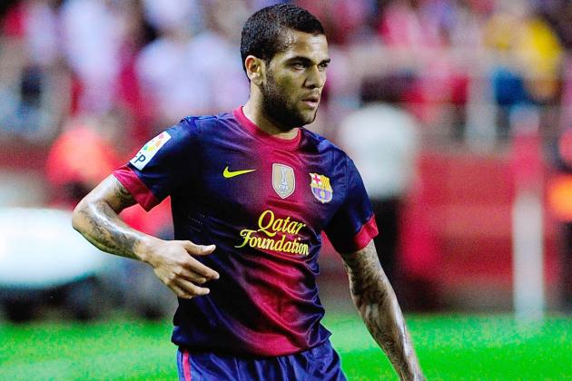 Barcelonas Dani Alves out for 15-20 Days