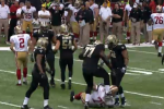 Saints' DT Bunkley Kicks Niners' Guard in the Head