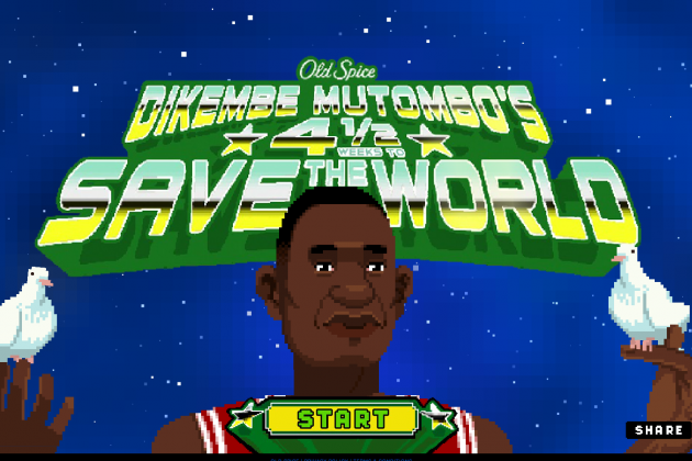 Dikembe Mutombo Saves World for Old Spice in Bizarre Video Game Ad