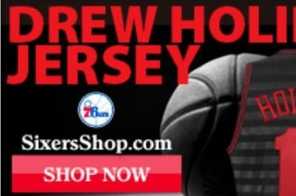 Sixers Sell 'Drew' Holiday Jerseys