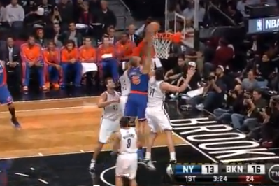 Video: Tyson Chandler's Monster Putback Dunk over Half the Nets