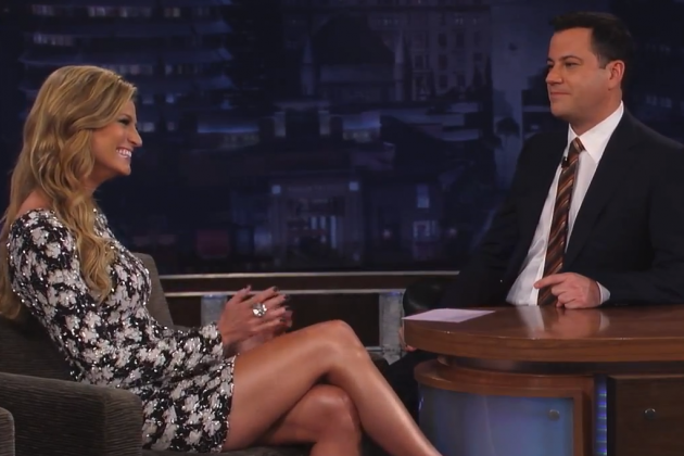 Erin Andrews Appears on Jimmy Kimmel Live