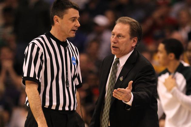 Tom Izzo Says Officiating of Elbow Contact, Flagrant Fouls Mystifying