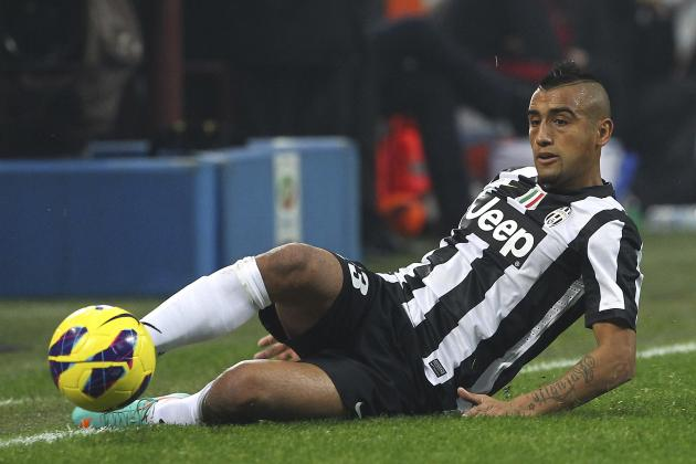 Juventus Midfielder Arturo Vidal Injured Ahead of Torino and Shakhtar Ties