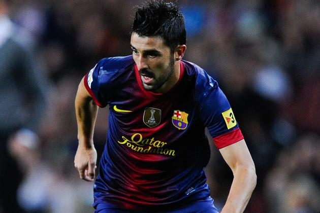 David Villa Ready for the Spanish Cup
