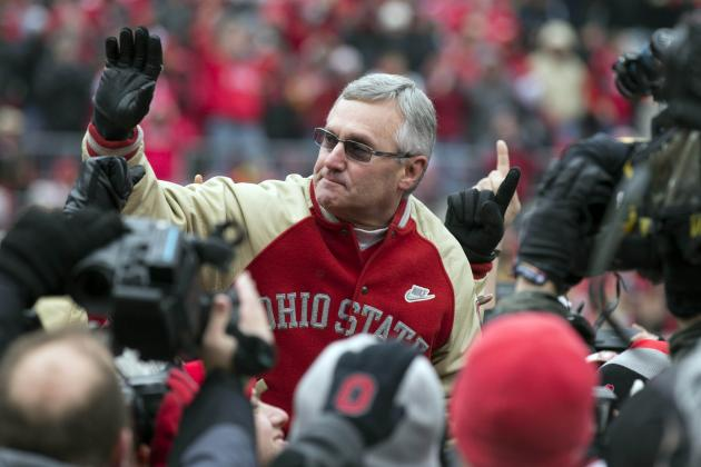 Salute to OSU'S 2002 Champions Includes Emotional Embrace for Jim Tressel