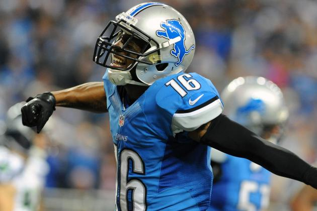 Titus Young Returns to Lions Practice; 5 Others out Including Mikel Leshoure