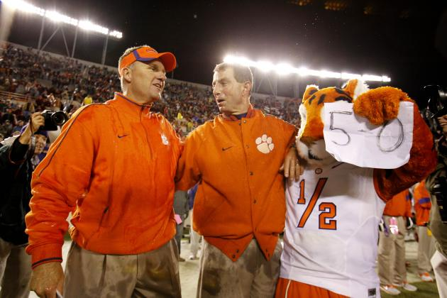 Report: Clemson Offensive Coordinator Chad Morris a Candidate for NC State Job