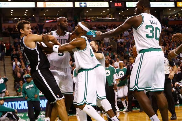 VIDEO: Rajon Rondo and Kris Humphries Ejected for Fight During Celtics vs. Nets