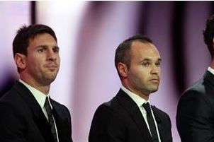 Messi, Ronaldo, Iniesta for Ballon D'Or