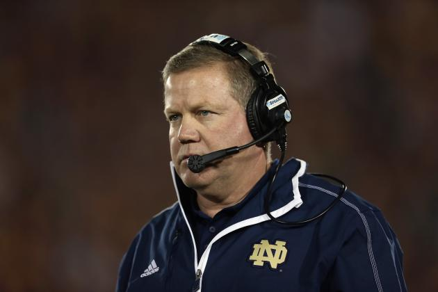 Notre Dame Football Recruiting: Is Brian Kelly on Urban Meyer's Level Yet?