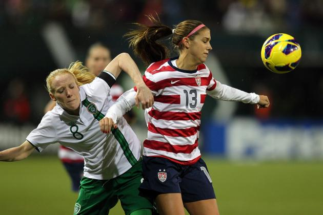 Alex Morgan Helps U.S. Women Beat Ireland 5-0