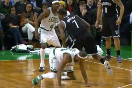 Joe Johnson Crosses Up Pierce