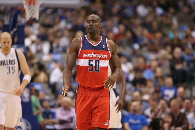 Emeka Okafor Celebrates First Wizards Win by Catching Falling Fan