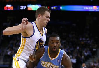 David Lee is almost single-handedly keeping the Warriors in the game.