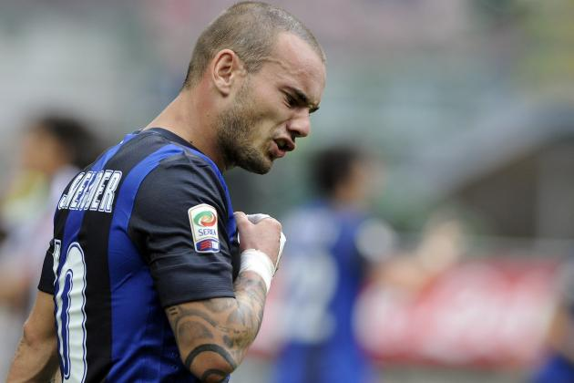Inter Consider Selling Wesley Sneijder in January After Contract Dispute