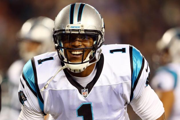 Panthers' Cam Newton Finds It's OK to Smile