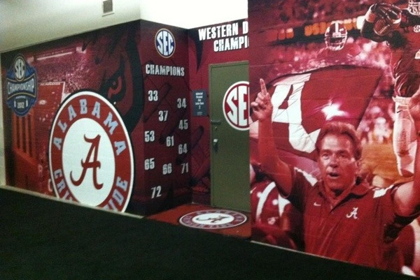 Georgia Dome Locker Room 'Bama'd Out