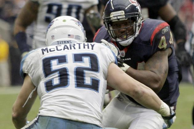 Colin McCarthy Ruled out vs. Texans
