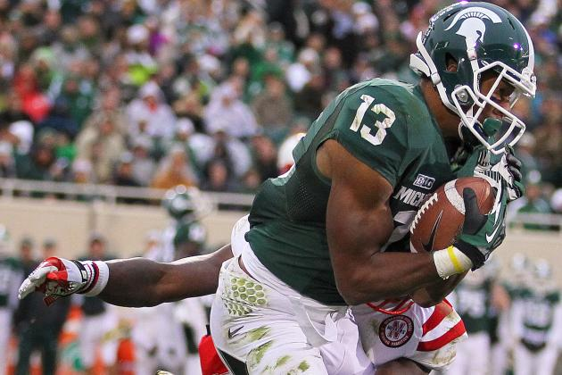 Michigan State's Improved Receiving Corps Bodes Well for Next Season