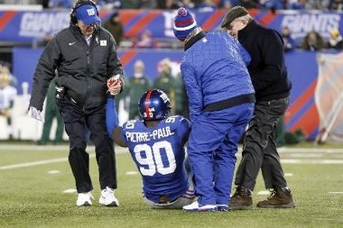 Giants' Jason Pierre-Paul Misses Practice but Expected to Play vs. Redskins