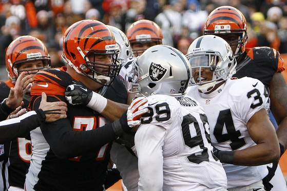 Five Players Fined for Raiders-Bengals Tussle
