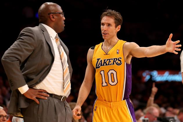 Why Didn't Mike Brown Get to Blame Lakers Strife on Steve Nash Injury?
